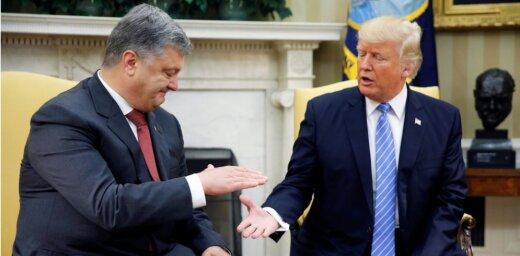 Porošenko un Tramps vienojas paplašināt militāri-tehnisko sadarbību