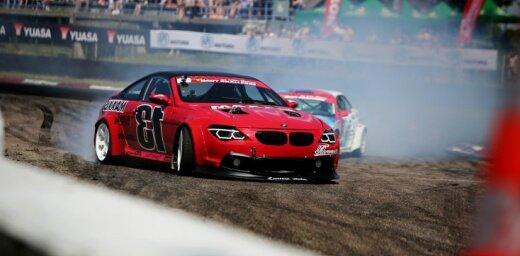 Sestdien Biķerniekos 'Formula Drift' zvaigznes pret Eiropas tituliem