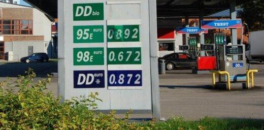Purvciemā 98E benzīnu pārdod par O.672 Ls litrā