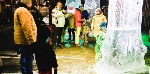 Названы победители Международного фестиваля ледяных скульптур в Елгаве