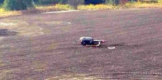 ВИДЕО: В Курземе упал вертолет, один человек погиб