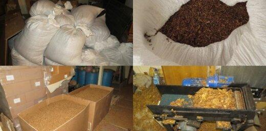 За нелегальное хранение тонны табака задержаны трое мужчин