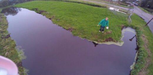 ВИДЕО: Последние секунды — жуткое падение новенького беспилотника в воду