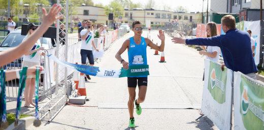 'Ezerkauliņi' Salaspils pusmaratonā uzvar olimpiete Ilona Marhele un Dmitrijs Serjogins