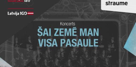 Tiešraide: Valsts akadēmiskā kora 'Latvija' koncerts 'Šai zemē man visa pasaule'