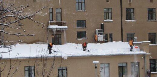Cīņa ar sniegu Jelgavā