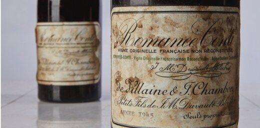 Izsolē par rekordsummu – pusmiljonu dolāru – pārdots vēsturisks Burgundijas sarkanvīns