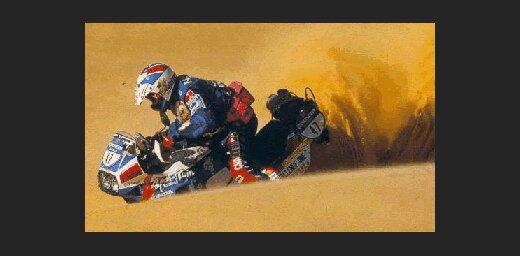 Sestajā etapā motociklistu konkurencē uzvaru izcīna Meoni
