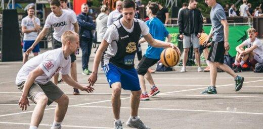 Foto: Ar draudzības spēli noslēdzies 'Ghetto Basket' posms Ogrē