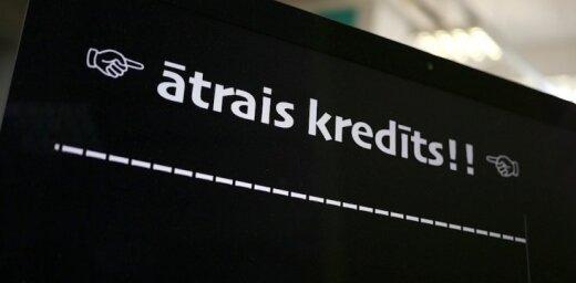 В Латвии растет зависимость от быстрых кредитов: PTAC призывает ввести новые ограничения