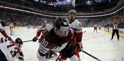 Foto: Latvijas izlase Prāgā nespēj uzveikt savu neērto pretinieci Čehiju