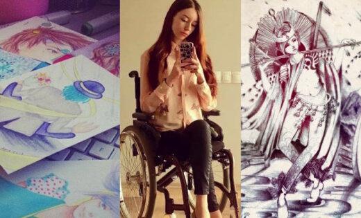 Redzēt viņas darbus, ne ratiņkrēslu. Jaunā māksliniece un blogere Arta