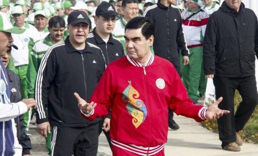 Президент Туркмении подарил Путину надень рождения щенка алабая