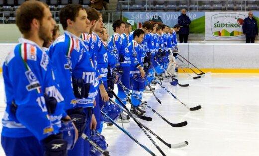 Itālijas hokeja izlasei PČ palīdzēs pārsvarā vietējā čempionāta spēlētāji