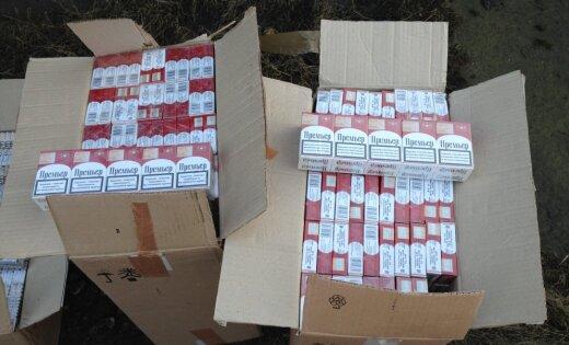 Policisti Liepājas pusē atsavina ap pusmiljonu kontrabandas cigarešu