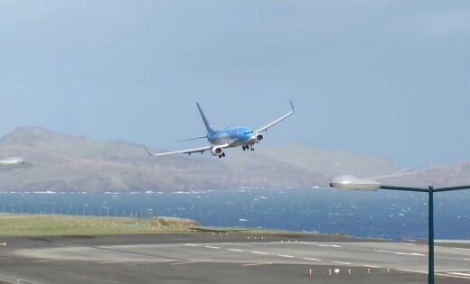 """ВИДЕО: Снятое пилотом из кабины """"обычное"""" приземление ужаснуло пассажиров"""