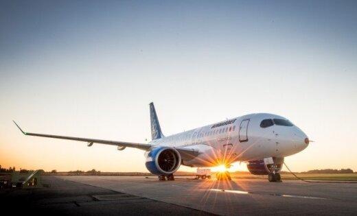 Reportāža: 'airBaltic' pasūtītajām 'Bombardier CSeries' - pirmais testa lidojums