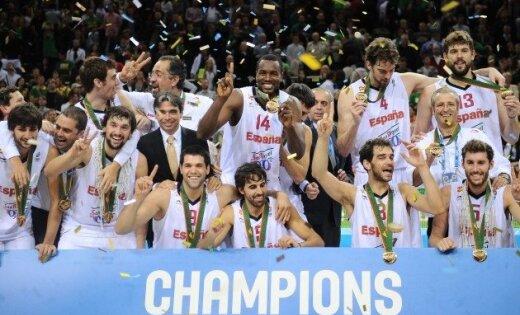 Spānijas basketbolisti otro reizi pēc kārtas triumfē Eiropas čempionātā