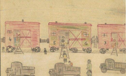 Atskats vēsturē: Bērna zīmējumi stāsta par deportāciju un dzīvi Sibīrijā