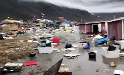 Zemestrīce izraisa cunami Grenlandē