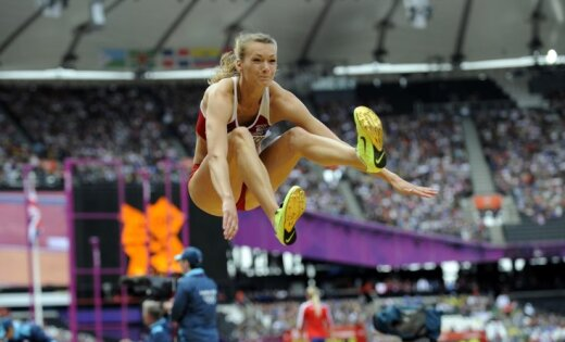 Ikauniece atkārto Latvijas rekordu un izcīna devīto vietu