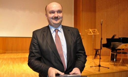 """12.12.2008. AS """"Rīgas Siltums"""" valdes priekšsēdētājs Āris Žīgurs piedalās """"Gada balva enerģētikā"""" laureātu apbalvošanas ceremonijā."""