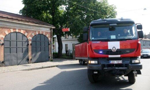 В пожаре в Риге пострадал человек