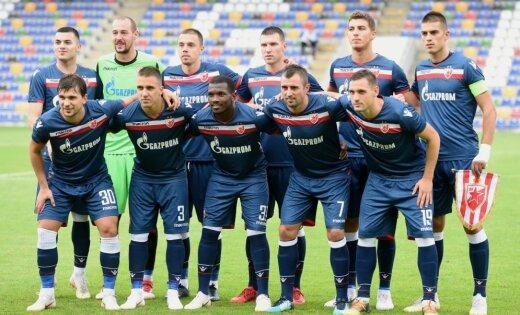 UEFA soda 'Crvena Zvezda' ar divām spēlēm pie tukšām tribīnēm