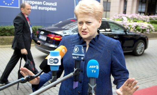 Мнения разошлись: Грибаускайте одобряет санкции США противРФ