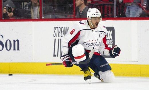 Ovečkins gūst karjeras 100. uzvaras vārtus NHL čempionātā