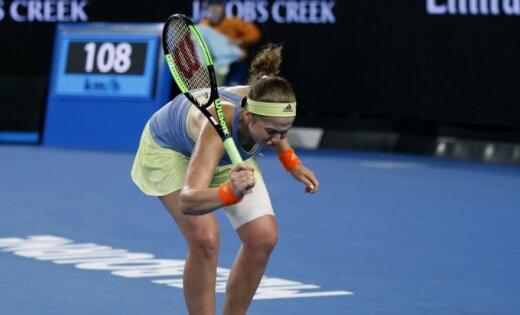 Остапенко проиграла эстонке Контавейт в1/16 финала Australian Open