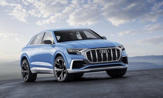 'Audi' prezentējis savu 'BMW X6' konkurentu 'Q8'