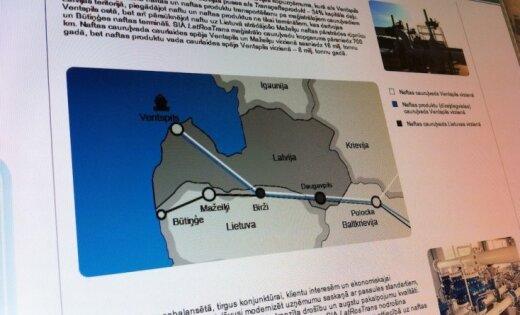 Latvijas un Baltkrievijas uzņēmumi turpina strīdēties par naftas cauruļvadu Polocka – Ventspils