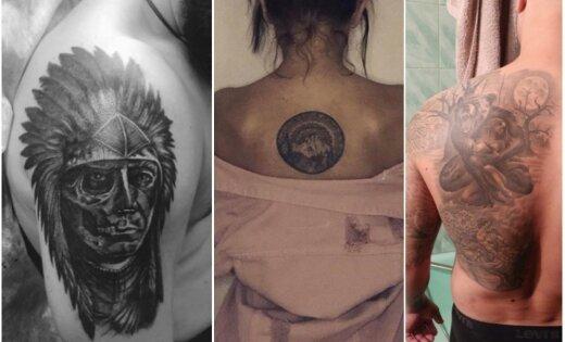 'Delfi' lasītāju tetovējumi fotoattēlos: latvju raksti un kaislīgas ainas