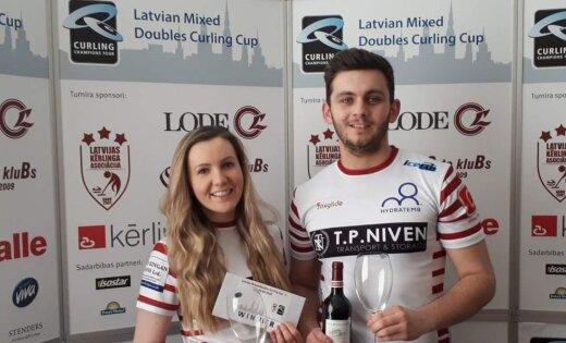 Jaukto pāru kērlinga turnīrā Rīgā uzvar skoti; Latvijas izlase izcīna 10. vietu