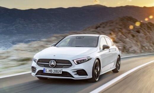 'Mercedes' jauno A-klasi prezentē kā tehnoloģiski visattīstītāko savā segmentā