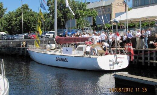 Latvijas jahta 'Spaniel' dodas pēc uzvaras starptautiskajā regatē 'The Tall Ships Races 2012'