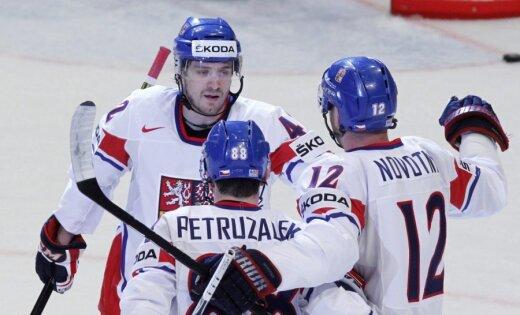 Čehijas hokejisti viegli tiek galā ar Itālijas izlasi
