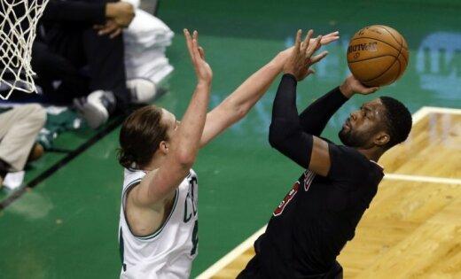 'Bulls' NBA 'play-off' otro reizi pārspēj Austrumu konferences uzvarētāju 'Celtics'