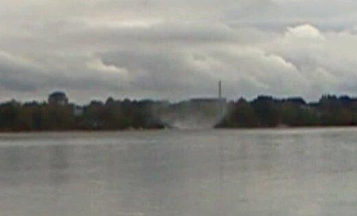 Virs Daugavas novērots virpuļviesulis (video)