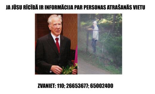 Lūdz palīdzību pazuduša sirmgalvja meklēšanā