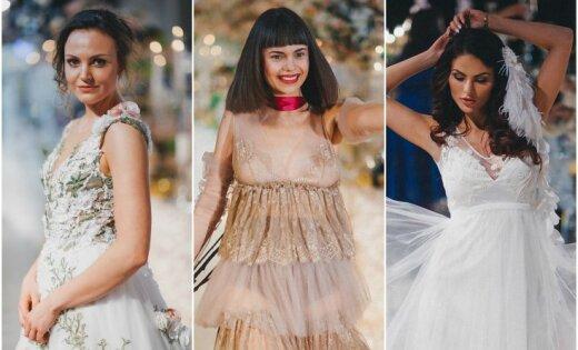 Krāšņi foto: Sabiedrībā zināmas dāmas izrāda līgavu kleitas