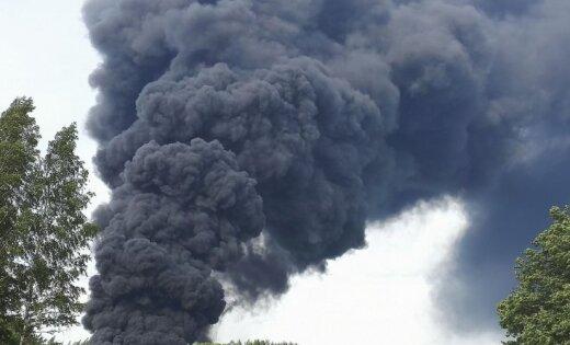 Эксперты: пожар в Юрмале серьезно не навредит жителям и окружающей среде