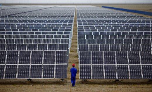 В Эстонии начали строить крупнейший комплекс солнечных электростанций