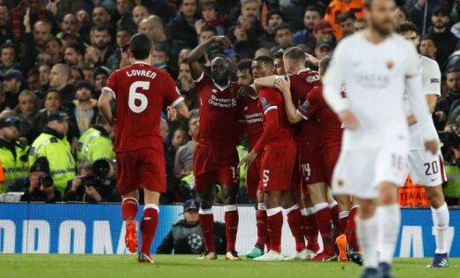 Лига чемпионов Салах сделал дубль'Ливерпуль разгромил'Рому в матче с семью голами