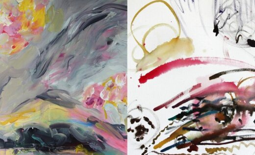 Atklās žurnālistes un mākslinieces Anetes Lesītes un viņas meitas Helēnas izstādi