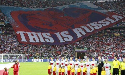 Krievija saņem bargu sodu par savu fanu uzvedību (22:40)