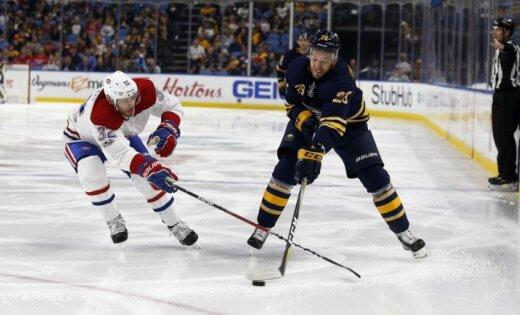 Girgensons izdara sešus metienus; 'Sabres' NHL sezonu sāk ar zaudējumu 'bullīšos'