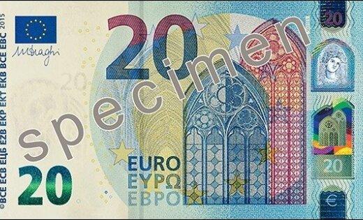 В обращение поступает новая банкнота номиналом 20 евро