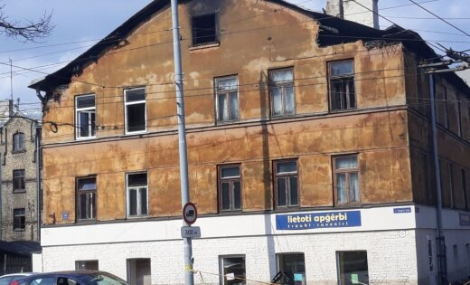 Из горящего дома в Риге спасли семерых человек